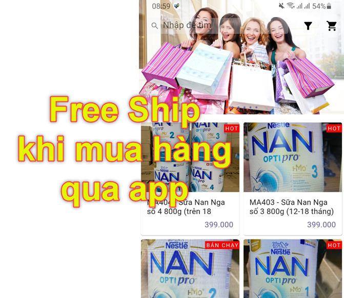 Mở chương trình khuyến mãi để khách hàng tải app
